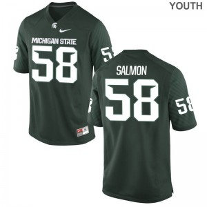 Devyn Salmon Michigan State University College Youth Game Jersey - Green