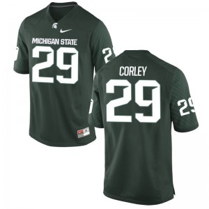 Donnie Corley MSU High School For Men Game Jersey - Green