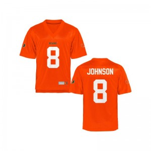 Duke Johnson Miami Hurricanes Official For Kids Limited Jerseys - Orange