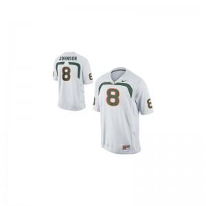 Duke Johnson University of Miami Football Kids Limited Jerseys - White