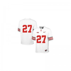 Eddie George Ohio State Buckeyes Player Youth(Kids) Limited Jerseys - White Diamond Quest Patch