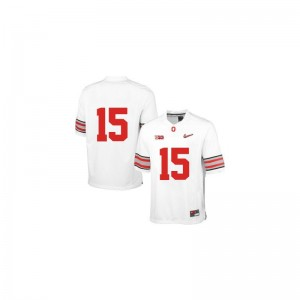 Ezekiel Elliott Ohio State NCAA Mens Game Jersey - White Diamond Quest Patch