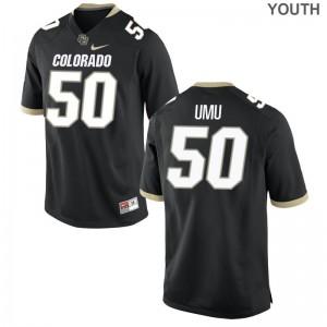 Frank Umu Colorado High School For Kids Game Jerseys - Black