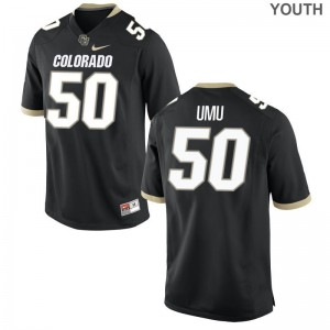 Frank Umu UC Colorado Player Youth Game Jerseys - Black