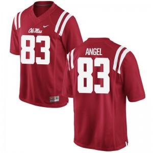 Gabe Angel Ole Miss Player Men Game Jerseys - Red
