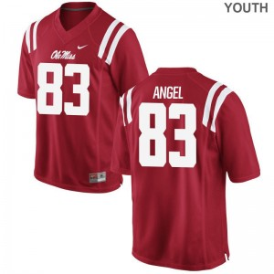 Gabe Angel Rebels High School Youth(Kids) Game Jersey - Red
