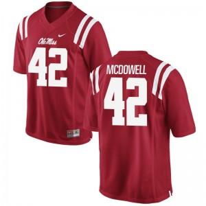 Garrald McDowell University of Mississippi Player Men Game Jerseys - Red