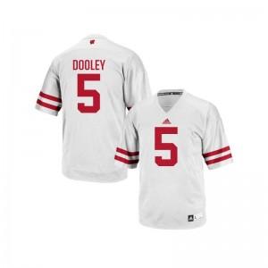 Garret Dooley University of Wisconsin Player For Men Authentic Jerseys - White