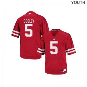 Garret Dooley University of Wisconsin High School Youth Authentic Jerseys - Red