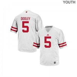 Garret Dooley Wisconsin Badgers Official Youth Authentic Jersey - White