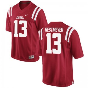 Grant Restmeyer Rebels Player Mens Game Jerseys - Red