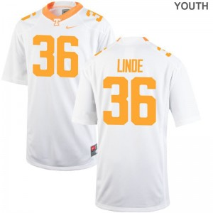 Grayson Linde Tennessee Volunteers University Kids Limited Jerseys - White