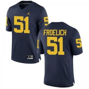 Greg Froelich Michigan Wolverines Alumni Youth Game Jersey - Jordan Navy