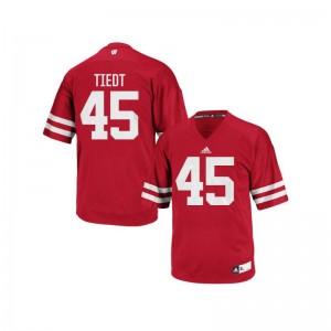 Hegeman Tiedt UW Football Men Authentic Jerseys - Red