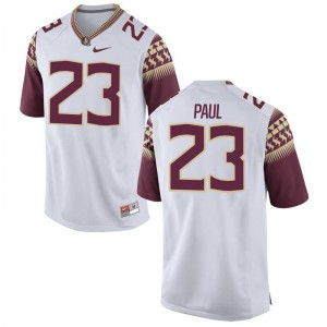 Herbans Paul FSU Football For Kids Game Jersey - White