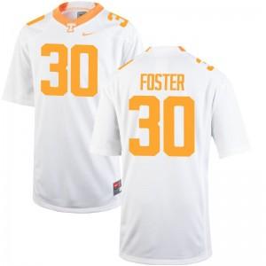 Holden Foster Vols Official Men Game Jerseys - White