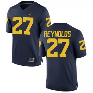 Hunter Reynolds Michigan College Mens Limited Jersey - Jordan Navy