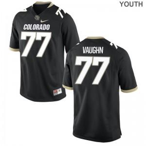 Hunter Vaughn University of Colorado NCAA Youth(Kids) Limited Jerseys - Black