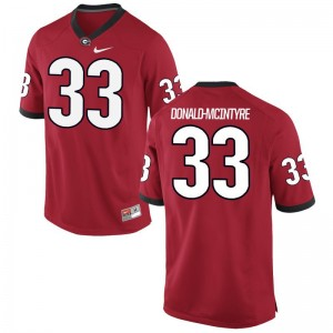Ian Donald-McIntyre University of Georgia NCAA For Men Game Jersey - Red