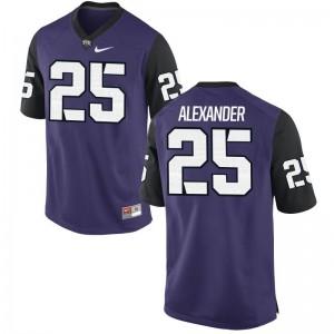 Isaiah Alexander Texas Christian University Alumni Mens Game Jersey - Purple Black