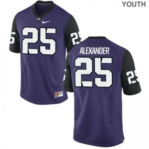 Isaiah Alexander Texas Christian Official Youth(Kids) Game Jersey - Purple Black