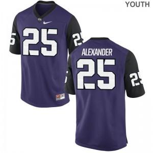 Isaiah Alexander TCU Horned Frogs Alumni For Kids Game Jerseys - Purple Black