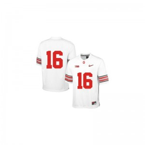 J.T. Barrett Ohio State Official Men Limited Jersey - White Diamond Quest Patch