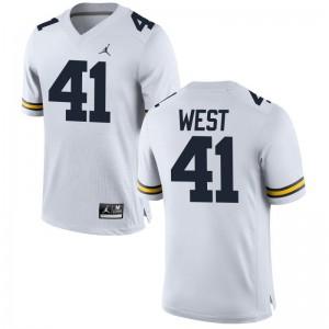 Jacob West University of Michigan University Mens Game Jerseys - Jordan White