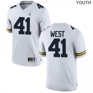 Jacob West Wolverines High School Youth Limited Jersey - Jordan White