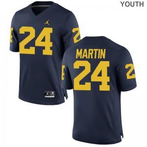 Jake Martin Michigan Wolverines Football Youth Limited Jersey - Jordan Navy