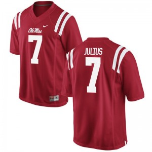 Jalen Julius Ole Miss Rebels College For Men Game Jersey - Red