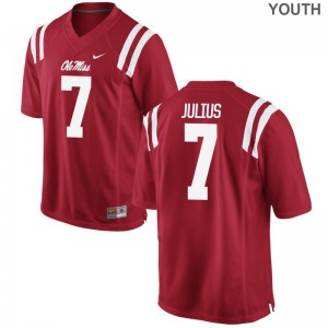 Jalen Julius University of Mississippi Player Youth Game Jersey - Red