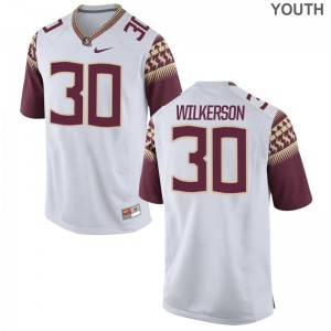Jalen Wilkerson Florida State High School Youth(Kids) Limited Jersey - White