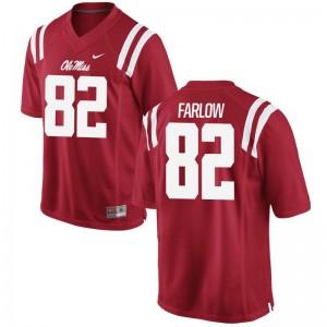 Jared Farlow Rebels Football For Men Game Jersey - Red