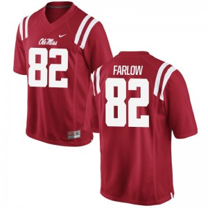 Jared Farlow Ole Miss Rebels University Men Limited Jersey - Red