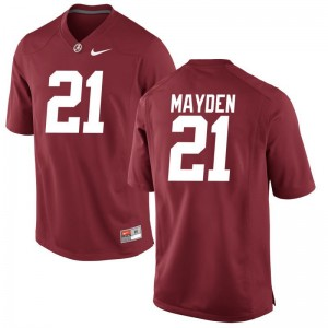 Jared Mayden Alabama College Men Game Jerseys - Red