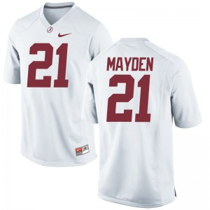 Jared Mayden University of Alabama Official Men Limited Jerseys - White