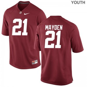 Jared Mayden Alabama University Kids Game Jersey - Red