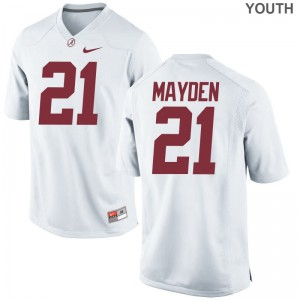Jared Mayden University of Alabama Alumni Youth(Kids) Game Jerseys - White