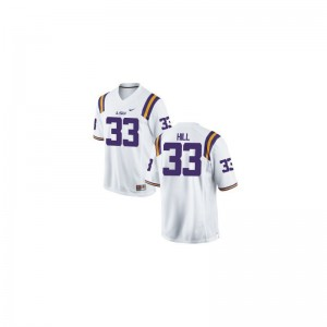 Jeremy Hill LSU Official Men Game Jersey - White