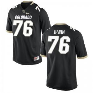Jeromy Irwin University of Colorado NCAA Mens Game Jerseys - Black