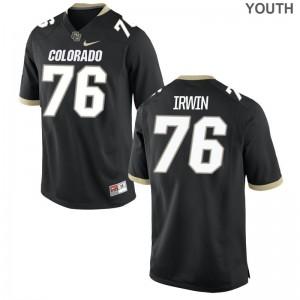 Jeromy Irwin Buffaloes University Kids Game Jerseys - Black