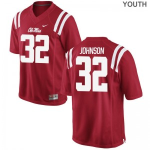 Jerry Johnson Rebels High School For Kids Game Jersey - Red