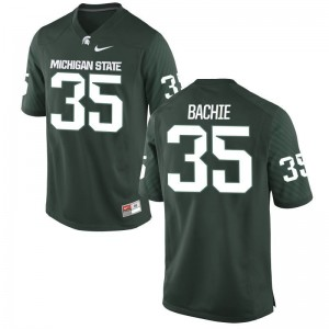 Joe Bachie Michigan State Spartans Official For Men Game Jersey - Green