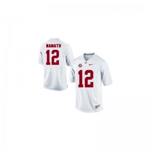 Joe Namath Alabama Player For Kids Game Jersey - White
