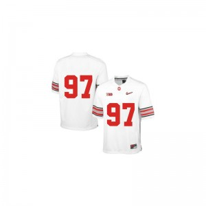 Joey Bosa Ohio State Buckeyes Football For Men Game Jerseys - White Diamond Quest Patch