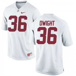 Johnny Dwight University of Alabama Player For Men Limited Jerseys - White