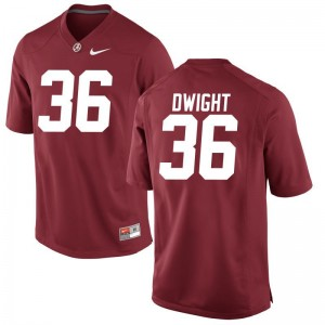 Johnny Dwight Alabama College For Kids Game Jersey - Red