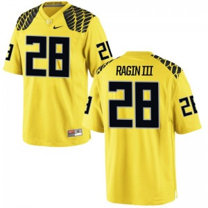 Johnny Ragin III University of Oregon Football Mens Game Jersey - Gold
