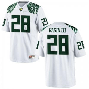 Johnny Ragin III University of Oregon NCAA Mens Game Jersey - White